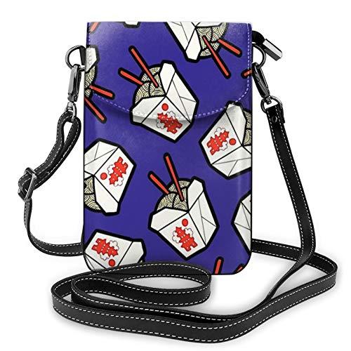 Damen Crossbody Handytasche Take Out Nudeln Box Kleine Handy Geldbörse Brieftasche Leichte Leder Tasche Gurt für Frauen Mädchen