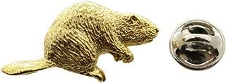 Beaver Pin ~ 24K Gold ~ Lapel Pin ~ Sarah's Treats & Treasures