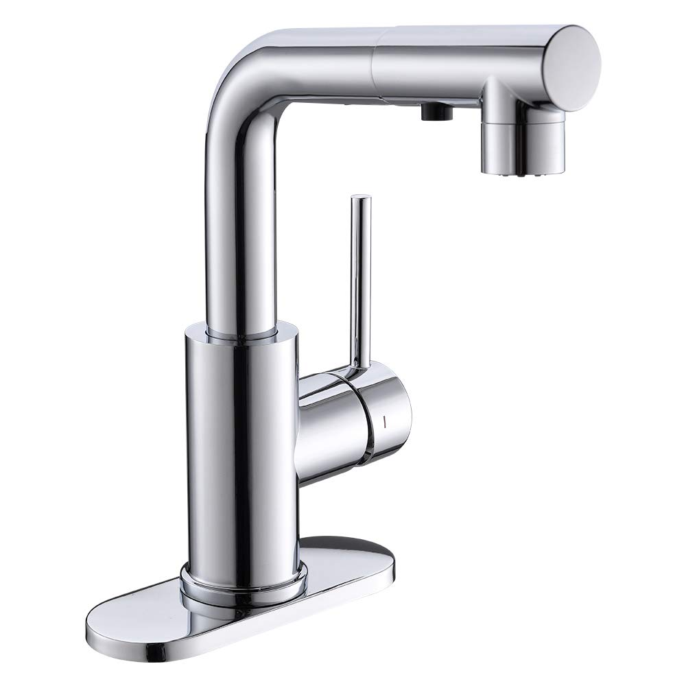 Pull Out Sink Bar Faucet With Magnetic Docking Sprayer Prep Sink Small Kitchen Sink Faucet In Chrome Farmhouse Bathroom Faucet With Sprayer Amazon Com