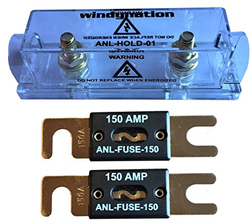 WindyNation ANL Fuse Holder + ANL Fuse (2pcs 150A Fuse)