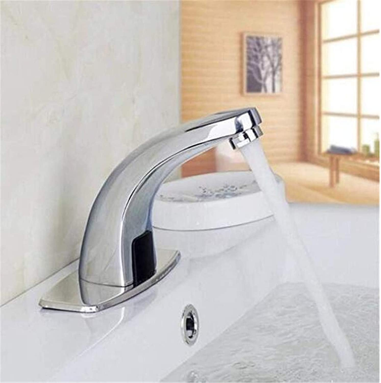 Modern Hot and Cold Faucet Vintage Platingfaucets Basin Mixer New Brass Chrome Single Handle Cold and Hot Water Mixer Tap