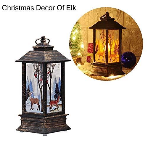 Lantaarn kerstversiering voor Halloween, licht gloeiende lantaarn kaars met LED-party-versiering voor kerstdecoratie lantaarns