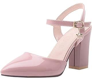MisaKinsa Women Fashion Summer Shoes Block Heels