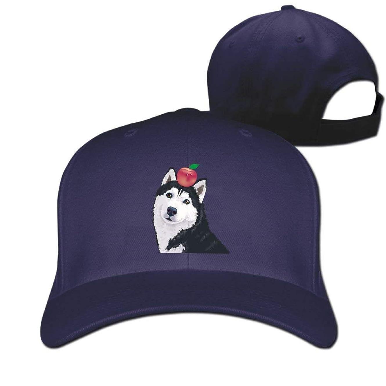 襟始める刃ユニセックスハスキーアップル野球ヒップホップキャップヴィンテージ女性と男性のための調節可能な帽子、ワンサイズ