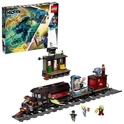 LEGO Hidden Side 70424 Ghost Train Express Construction Set, AR Lego Games with Lego app, Toys for 8 Years Old Boys and Girls, Interactive Augmented Reality Ghost Playset with 5 minifigures