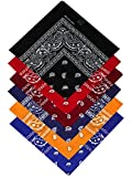 Harrys-Collection Unisex Bandana Bindetuch 100% Baumwolle (1 er 6 er oder 12 er Pack), Farbe:Sortiment 2