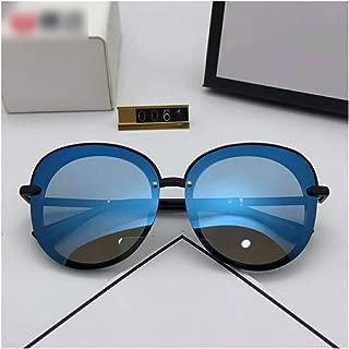 LUKEEXIN High-end Sunglasses, Fashion Polarized Metal Sunshade for Women/Men (Color : Blue)