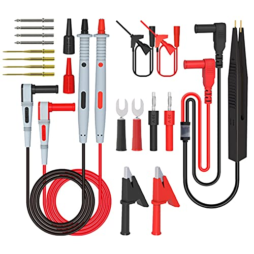 Kit de cables de multímetro - Kit de cables de prueba de multímetro Juego de herramientas de sonda de prueba de clip eléctrico para pruebas eléctricas de multímetro