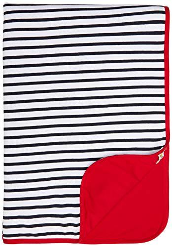 Steiff Baby-Mädchen mit süßer Teddybärapplikation Decke Jersey, Navy, 999