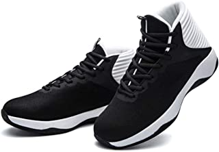 AUCDK Men Heightening Sneakers Casual Mesh Breathable Running Shoes Platform High Top Sneakers Basketball Trainers