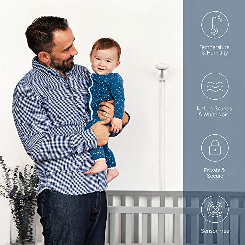 Nanit Plus - Smart Baby Monitor and Wall Mount: Camera with HD Video & Audio - Sleep Tracking - Night Vision - Temperature & Humidity Sensors and Two-Way Audio