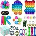 Fidget Toys Pack, Fidget Toy Sets Fidget Pack Barato, Simple Dimple Fidget, Push Bubble Fidget Juguete Sensorial Para Niños (B) de Nokiwiqis