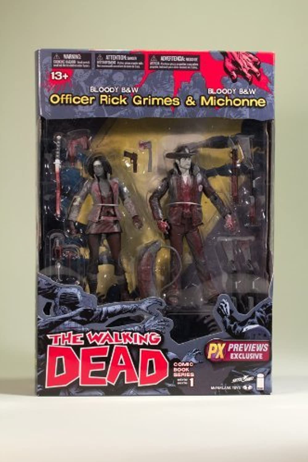 Walking Dead Comic Series 1  Officer Rick Grimes & Michonne Previews Exclusive 2-Pack by Unknown