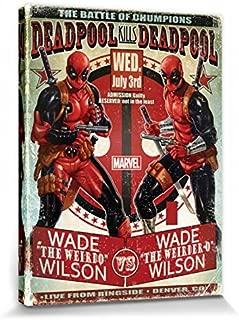 Motiv Wade Wilson 100x40cm cosplaystudio Gro/ßes Deadpool Rollbild//Kakemono Poster aus Stoff