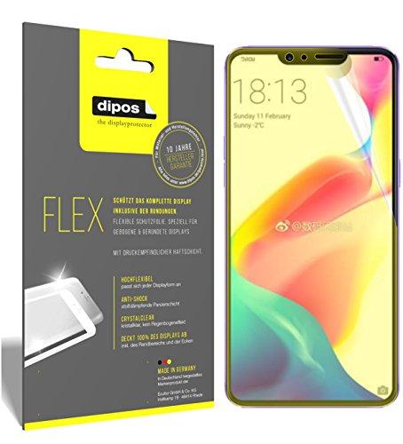 dipos I 3X Schutzfolie 100prozent kompatibel mit Oppo R15 Dream Mirror Folie (Vollständige Bildschirmabdeckung) Bildschirmschutzfolie