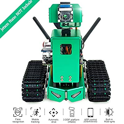 Yahboom AI Robot for NVIDIA Jetson Nano B01 A02, Coding Robotics Kit with Autopilot, Object Tracking, Face and Color Recognition