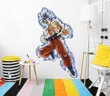 Vinilo de Pared Tamaño Real Dragon Ball Super Goku Ultra Instinto Producto Oficial | 66x110 cm |Vinilo para Paredes | Producto Original | Vinilo Adhesivo | Mural | Decoración Hogar | DBS