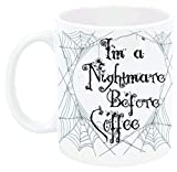 N\A Tazza IM A Nightmare Before Coffee Ispirata a A Nightmare Before Christmas