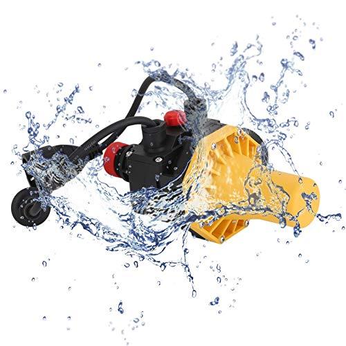 CamKpell PC03.C Kurzschlussschutz Wasserpumpe Automatische Druckregelung Elektronischer Schalter mit Manometer-Steckdosen - gelber EU-Stecker