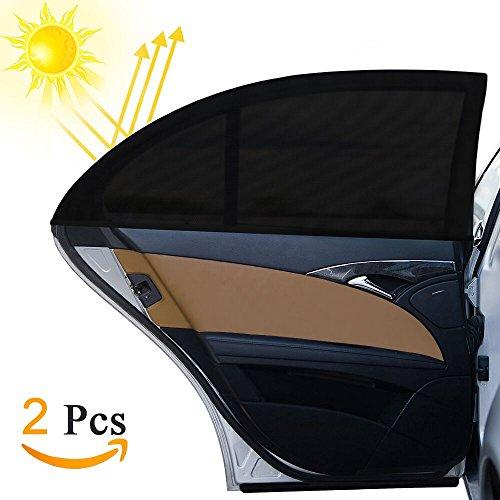 Tendina Parasole Auto, Otumixx 2Pcs Tendine Parasole Auto Bambini per Finestrino Laterale con protezione UV, universale misura 126x52cm Parasole, Protegge Bambini e Animali Domestici