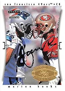 Merton Hanks autographed football card (San Francisco 49ers) 1997 Score #244 - NFL Autographed Football Cards