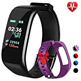 Fitness Tracker,Activity Tracker Watch with Heart Rate Blood Pressure Blood Oxygen Monitor,Smart Fitness