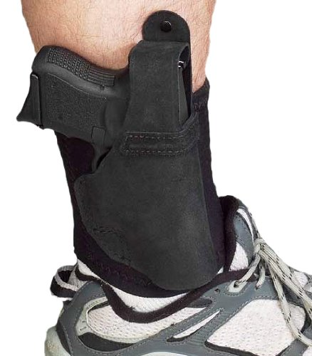 Galco Ankle Lite/Ankle Holster for Ruger LCR (Black, Right-Hand)