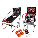 Lancaster 2 Player Electronic Arcade 3 in 1 Basketball, Football, Baseball Game