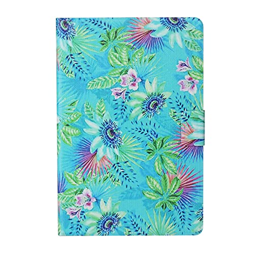 LMFULM Case for Lenovo Tab M10 HD 2 Gen TB-X306 (10.1 Inch) PU Leather Case Protective Shell Smart Case with Sleep/Wake Stand Case Flip Cover Flowers Grass