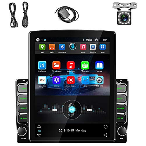 9.7 inch Android Car Stereo Double Din Touch Screen Car Radio with GPS+WiFi+Bluetooth+FM Radio Support Mirror Link for Android/iOS, SWC, Reversing Image Input + Dual USB & Backup Camera