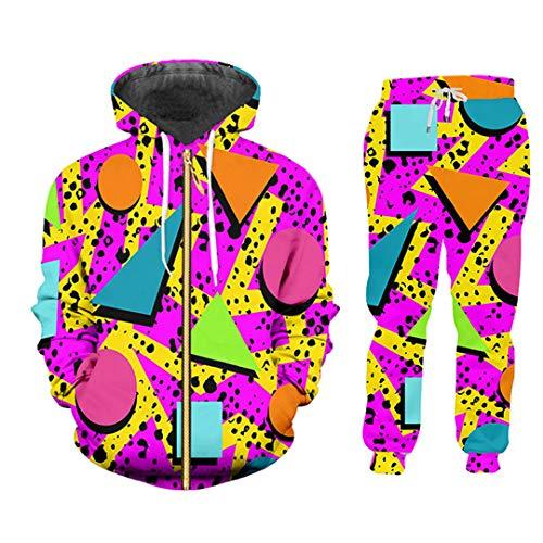 3D Bunte Sportswear Anzug Print Hoodie...