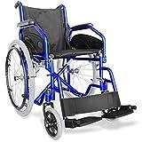 AGILA EVOLUTION Silla de ruedas autopropulsada, manual y plegable, adecuada para personas con dificultades de movilidad o para caminar Equipado con un cinturón de seguridad, un marco de acero pintado liviano, una cruz reforzada, asiento y respaldo de...
