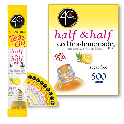 4C Powder Drink Mix | Bulk Buy | Singles Stix, On the Go | Refreshing Water Flavorings | Value Pack (Half & Half, 500ct)