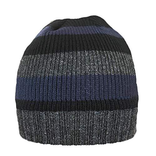 PARIELLA Hommes Tricot RAYÉ Thinsulate DOUBLÉ en Molleton Bonnet-Bleu
