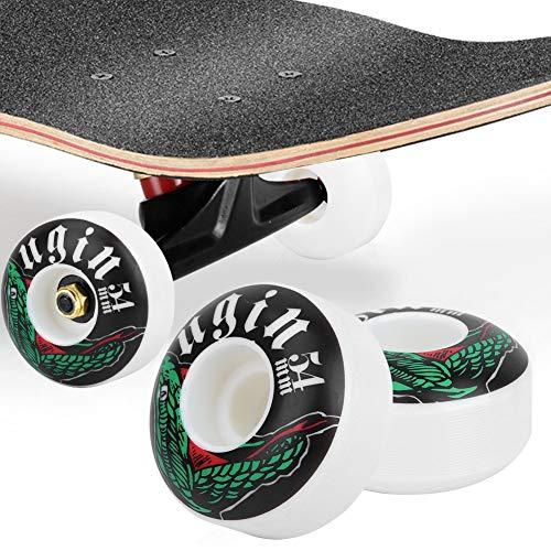 Skateboard Wheels Street Cruiser Wheels 5432MM Set of 4 for Long Board Skateboard Accessory
