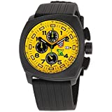 Luminox Land Tony Kanaanクロノグラフ黄色ダイヤルゴムストラップメンズ腕時計1105.s