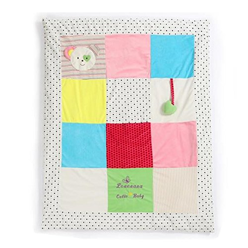 JYSPORT Baby Quilt 4-Seasons Decke Kinder Bettdecken Cartoon Infant Duvet Kindergarten Vierjahreszeitenbett (pink)