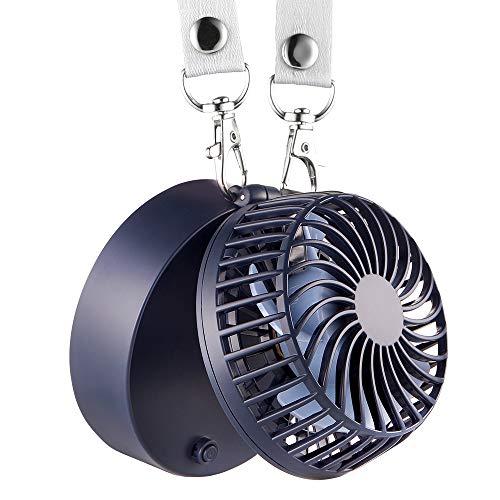 EasyAcc Super-Mini ventilatore portatile Lanyard Ventilatore 2600mAh Ventolatore ricaricabile a batteria Ventilatore palmare Mini ventilatore pieghevole USB con 3 velocità regolabili Adatto per attività all' interna ed esterna - Blu