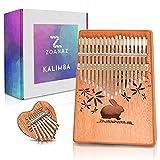 Zoanaz Kalimba Thumb Piano 17 Keys and Mini Kalimba 8 Keys. Gift Box Includes 2 Kalimbas Cute Bunny Heart Shape. Complete Set of Mbira Finger Piano