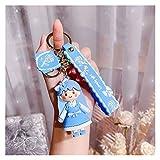 Djujiabh Llavero Moda Lolita Girl Llavero Accesorios Cuento de Hadas Princesa Llaveros Llaveros Películas de Dibujos Animados Parejas Regalos creativos (Color : Blue)