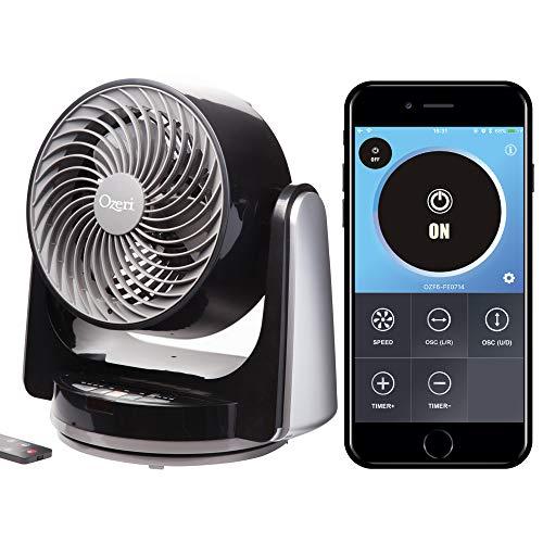 Ozeri Brezza III Dual Oscillating 10' High Velocity Desk Fan...