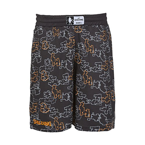 Spalding Herren Short Heart'n'Soul Black/Orange XXXL