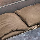 5 Pieces Sandless Sand Bags Water Flood Dam Bags, 14 x 26 Inch, Garage Water Barrier, Quick Flood Barrier Linen Dam Sandbags with Tying Rope for Flooding Protection Leaking Control Garage Garden