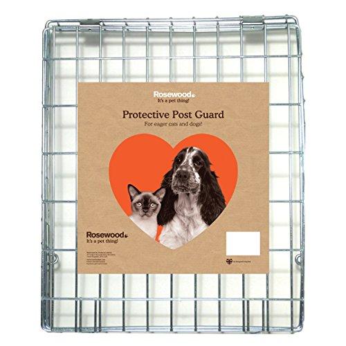 Rozenhout beschermend staal draad brief doos post guard (grijs)