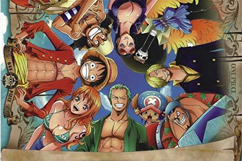 Zzcpt Diy Puzzle 1000 Pezzi Di Legno Partenaires One Piece Cartoon Anime Puzzle En Bois Puzzle Jigsaw Enfants Jouets Éducatifs Cadeau Décoration De La Maison