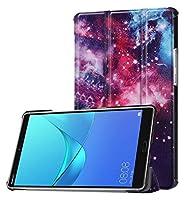 Huawei Mediapad M5 8.4インチ(2018リリース)、フクロウ蝶の花タンポポエッフェルタワーデザインスマートタブレットケースの三角形スタンドオートスリープ/ウェイク (Color : 7)