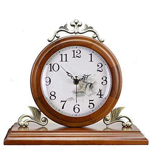 Reloj Manto Reloj de Escritorio, Silencio, Decoración de Escritorio Reloj Sala de Estar Reloj de repisa Madera de Oficina, Reloj Despertador