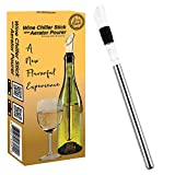 wine aerator cooler - Guay Bebida Wine Chiller Stick and Aerating Pourer - In Bottle Wine Cooler Chilling Rod with Aerator Pourer - Premium Wine Accessory for Iceless Chilled Wine – Cool Gift for Wine Lovers