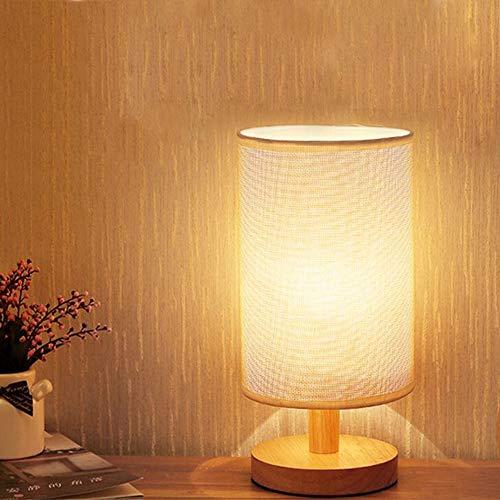 Moderna lámpara de mesa de madera con interruptor de cordón y enchufe de la UE, 3000 K blanco cálido, sobre mesa con casquillo E27, escandinava, esquina,...
