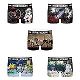 FREEGUN Lot de 5 Boxer Garcon Stormtrooper Slip, Multicolore (Multicolor G1), 14-15 Ans (Taille Fabricant:14/16)